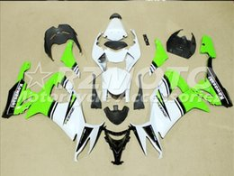 Wholesale Bike Body Fairings - 3 Free gifts New ABS bike Fairing Kits 100% Fitment For Kawasaki Ninja ZX10R 2008 2009 2010 10R 08 09 10 08-10 Body work set Green white