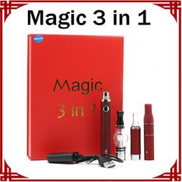 2019 evod globe kit Magic 3 in 1 Kits Trocken Kraut Vaporizer Glas Globe Vaporizer Evod Starter Kit E-Zigarette Batterie Kits günstig evod globe kit
