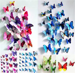 decalques de parede vermelho preto Desconto Cinderela borboleta 3d borboleta decoração adesivos de parede 12 pc 3d borboletas 3d borboleta pvc removível adesivos de parede butterflys em estoque