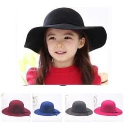 Types de chapeau de femme en Ligne-Été pliable Big Hat Vintage femmes types Faux laine chapeau de plage Sun chapeau doux