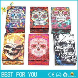 Wholesale smoking accessories case - Multi Ghost Patterns Novelty Plastic Cigarette Case Smoking Accessories Plastic Cigarette Box Cigarette Holder Tobacco Box