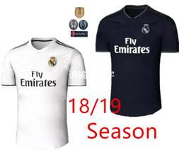 Wholesale Champions League Shirt - 2018 2019 Real madrid Soccer Jersey Ronaldo Modric Kroos Sergio Ramos Bale 2018 2019 ASENSIO ISCO football Shirt Champions League uniform