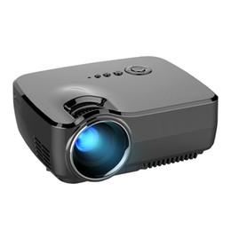 Video player de entrada on-line-GP70 Filme LCD Projetor Home Theater Vídeo Portátil Projetor Digital DLP Movie Player Pico LED Mini Projetor HDMI USB AV Entrada VGA SD