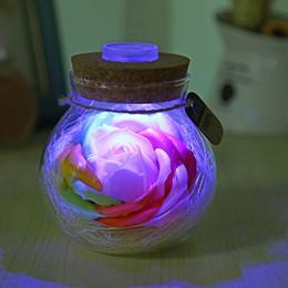 2019 flor de bulbo rosa LED RGB Dimmer Subiu Orb Noite Flor Garrafa Criativo Romântico Rose Bulb Grande Presente Do Feriado 16 Cores Com Controle Remoto flor de bulbo rosa barato