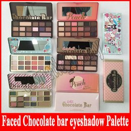 Wholesale Face Factories - Factory direct faced Chocolate Bar Eyeshadow semi-sweet Sweet Peach Bon Bons Palette 16 Color white chocolate bar Eye Shadow plates