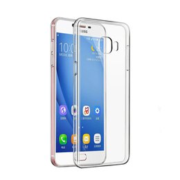 Couvercle transparent pour galaxy s6 en Ligne-Coques Antichoc Transparentes Pour Samsung Galaxy S10 Note9 Note 8 S9 S8 Plus S7 S6 Bord Clair Coque TPU Souple Couverture