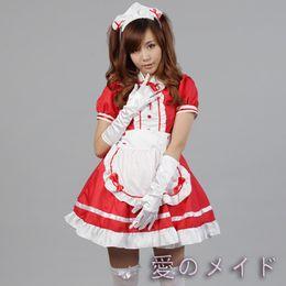 Sexy costume da cameriera francese Sweet Gothic Lolita Dress Anime Cosplay Sissy Maid Uniforme Plus Size Costumi di Halloween per le donne da