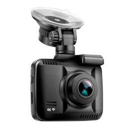 Argentina WiFi Coche DVR Recorder Dash Cam Dual lente de la cámara trasera del vehículo incorporado en la videocámara del GPS 4K 2160P Night Vision Dashcam cheap built g sensor Suministro