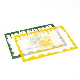 Tapetes de silicone Impresso tapete FDA food grade reutilizável non stick concentrado cera bho slick óleo resistente ao calor fibra de vidro dab pad tapete de