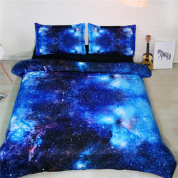 2019 quilt doona abdeckung gesetzt 3D Galaxy Moderne Bettwäsche Bett- und Bettwäscheset Mikrofaserbettwäsche Bettdecke Bettbezug-Set lichtecht US King for Adults Bed