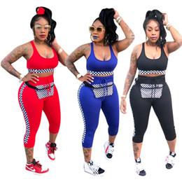 Тощая одежда онлайн-Спортивный костюм женские спортивные костюмы женская спортивная одежда 2018 рукавов женщины из двух частей наряды топы + узкие брюки повседневная Спорт комплект одежды