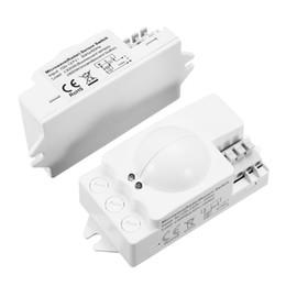 Wholesale Fluorescent Panel - 1PC Microwave Radar Sensor Switch Auto Induction Microwave Motion Sensor Detector For Panel Ceiling Light Fluorescent Lamps