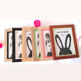 Wholesale Background Pictures Photos - Good Quality Photo Standing wood Picture Frame Background Craft Wood Classic Photo frame Living room Photo frame
