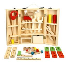Canada NWZ En Bois DIY Portable Multifonction Simulation Boîte à outils Ensemble Combinaison Enfant Puzzle Maison Démontage Jouets Puzzle Kit Offre