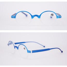 Diseñador de gafas de lectura redondas para mujeres y hombres. Moda pequeños lectores en alta calidad para la venta al por mayor. desde fabricantes