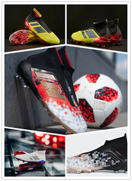 2018 World Cup High Ankle Bottes de Football Predator Telstar 18 FG Accelerator DB Enfants Chaussures de Foot PureControl Soccer Crampons