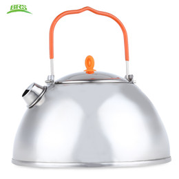 Wholesale Water Pots Kettles - BRS 800ML Stainless Steel Utility Coffee Pot Water Kettle Teapot Outdoor Tableware Portable for Camping Hiking Hot +B