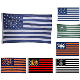 2019 fly ft USA Rugby Club Banner Flag 90 * 150cm 3x5 FT Poliestere Flying Flag Striped Rugby Flags 7 Stili fly ft economici