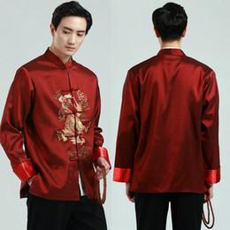 2019 vestidos de tamanho mais veludo Clássico do vintage tradicional chinesa clothing para homens de manga longa jaqueta de presente de ano novo partido tang terno chinês dos homens top étnica clothing