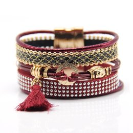 Wholesale Brazil Weave - New multi layered hybrid Bracelet Bohemia woven Bracelet national wind combination Brazil Style Bracelet