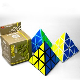 Wholesale Triangle Puzzle Cubes - New Arrival Triangle Shape Classic Toys pyraminx Magic Speed Cube pyramid Cubo Magico professional Puzzle education toys for children
