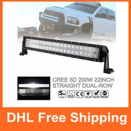 Wholesale 22 Inch Led Light Bars - 22 Inch 200W Super Bright Car LED Dual-Row Worklight Bar 40x 5D Chips Combo Offroad Light Driving Lamp for Truck SUV 4X4 4WD ATV CLT_42K