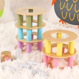 Bambini giocattoli interattivi online-Blocchi Mattoni Giocattoli Bambini Modelli bilanciati Giocattoli puzzle Coordinazione occhio-mano Divertimento interattivo genitori-figlio Gioco educativo da tavolo