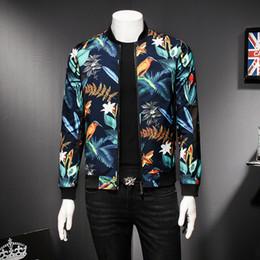 Wholesale Mens Party Jacket - Mens Pattern Jacket Floral Print Male Jacket Vintage Classic Fashion Designer Bomber Jackets Men Party Club Outfit Men oversize