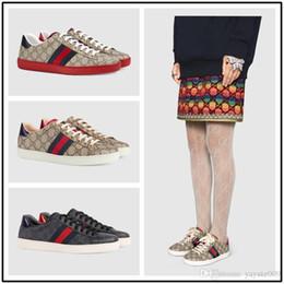 check out 8214b 1a4b7 herren freizeitschuhe größe 12 Rabatt Neue Designer Schuhe ACE Luxus  bestickt weiße Tiger Biene Schlange Schuhe