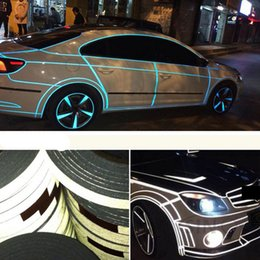 Wholesale Post Bikes - Car Sticker 1cm*5m Reflective Sheeting Tape Adhesive Film Reflect Auto Body Motorcycle Bike Vinyl Decal Style Decoration Shipping By Post