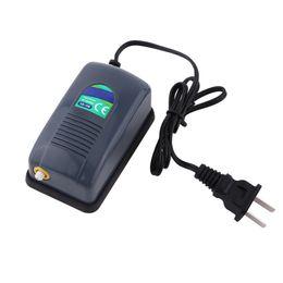 Аквариумные принадлежности онлайн-Аквариумный кислородный воздушный насос Fish Tank Mini Air Compressor Outlet Oxygen Pump Регулируемый рыбный аквариум Fish Supplies Accessories