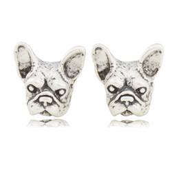 Orecchini orecchini dell'elfo online-vendita all'ingrosso nero francese orecchini bulldog elf orecchie orecchie polsino pendiente animale cane clip su orecchini per le donne regali unici