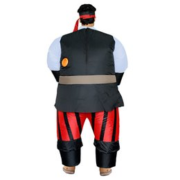 Wholesale Inflatable Halloween - Funny Inflatable Pirate Costume Adult for Pirates Halloween Mascot Carnaval Vestidos Funny Party Dress Men Women LJ-031