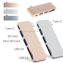 Wholesale Powered Usb Splitter - 5-In-1 USB-C 3.1 Type-C Hub Power Delivery PD-Power High Speed USB 3.0 Combo Splitter SD TF Card Reader For Laptop #R179T#