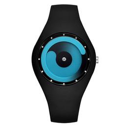 Süßigkeiten farbige uhren online-Männer Frauen Armband Uhren Geschenke Mode Reloj Mujer Kreative Uhren Candy Farbige Non Pointer Watch Silikon