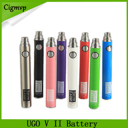 Usb passthrough vape online-Orodeno Evod UGO V II V 2 650mAh 900mAh Ego 510 Batteria 8colori Micro USB Charge Passthrough E-cig O Pen Vape batterie 0270001
