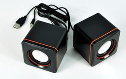 Wholesale music box china - HIFI Portable Computer Speaker Stereo Soundbar Radio Pop Music Subwoofer Column Speakers for Computer Free Shipping