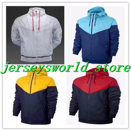 Wholesale America Jacket - CQ488*TOP Thin version Best Windbreaker America Jacket Soccer Jersey tracksuit G.juses mbappe NEYMAR JR Training suit