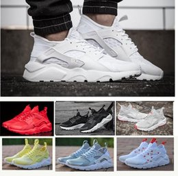 Wholesale designers art - New 2018 Air Huarache 4 IV Running Shoes For Men Women, Lightweight Huaraches Sneakers Athletic Sport Outdoor Harache hiking Designer Shoes
