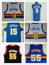 563154156 NCAA High Quality Mens   55 Dikembe Mutombo   3 Allen Iverson Jersey 2    Alex Inglés Classics Rainbow Style 15   Carmelo Anthony Jerseys