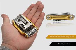 10 alüminyum alaşım kombinasyonu araçları bisiklet tamir araçları bakım araçları ile zincir kesici onarım kiti Uygun, küçük ve taşınabilir nereden