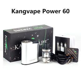 Wholesale nano electronics - Kangvape Power 60 Vape Mods Kit Aluminum Built-in 1500mah Nano K Atomizer 510 Thread Clock 3.3V~4.2V Electronic Cigarettes
