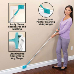 Wholesale Microfiber Mops - Baseboard Buddy Cleaning Mop Blue Plastic Steel White Mop Simply Walk Glide Extendable Microfiber Dust Brush Kids Bath Items CCA8496 30pcs