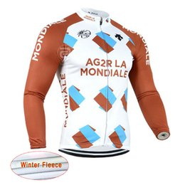 Wholesale Thermal Clothing For Men - AG2R ASTANA team Cycling Winter Thermal Fleece jersey Competition-class high-quality cycling clothes For Men Size XS-4XL c1901