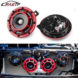 2019 cuernos de aire RASTP -2 PCS 110DB Red Super Loud Compacto eléctrico Blast Tone Air Kit para motocicleta y coche 12v RS-BOV014 cuernos de aire baratos