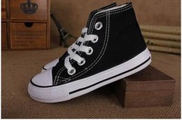 Wholesale Shoes Kids 24 - 12Color classic style All Size 24-34 Low high Style high Style Canvas Shoe Sneakers kids boys girls casual Shoes Casual Shoes
