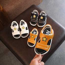 sapatos de bebê sola Desconto Novo Verão Bebê Meninos Praia Sapatos Infantis Criança Sandálias de Borracha De Couro PU Anti-slip Outsole Tamanho 5.5-6-6.5-7-7.5-8