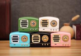 Retro Radyo Bluetooth Hoparlör Vintage nostaljik Ağır Bas 3D Stereo Surround HiFi Hoparlörler destek TF USB FM AUX HM11 10 ADET / GRUP nereden ucuz bluetooth sesi tedarikçiler
