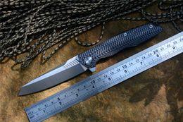 coltello twosun Sconti TWOSUN TS16 G10 coltello pieghevole D2 Raso lama in ceramica con cuscinetto a sfera veloce aperto G10 maniglia esterna campeggio coltello da tasca strumenti EDC
