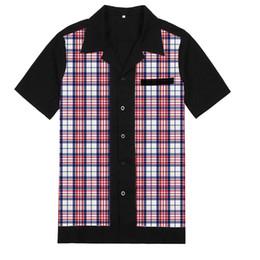 45fc5b9a6d6 Discount rockabilly clothes - Mens Clothing Leisure Design Short Sleeve  Plaid Shirts Retro Rockabilly Pinup Mens